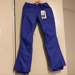 NWT BURTON Flypant snow pants- XS women, blue
